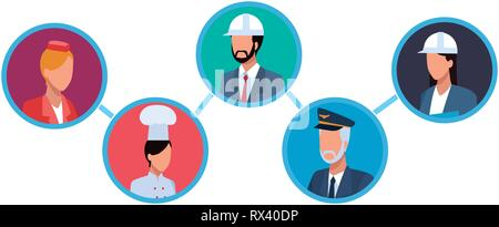 Jobs and professions avatar - Stock Photo
