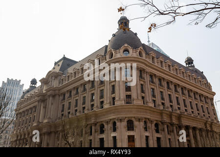 European style building in the city center of Tianjin, China - Stock Photo
