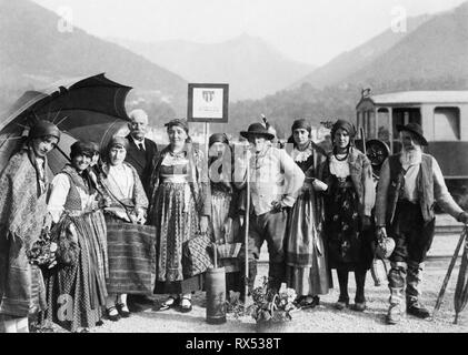 people in traditional costumes, vigezzo, piemonte, italy 1920 1930 - Stock Photo