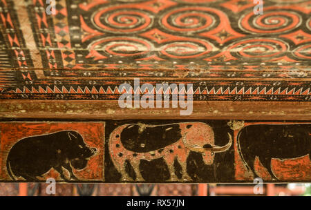 Traditional Art decoration from Tana Toraja. The art usually placed in the Tongkonan house, the Torajan Traditional building. - Stock Photo