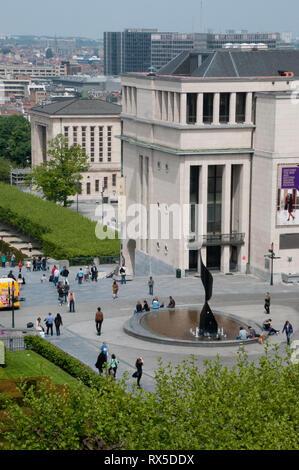 Europe, Belgium, Brussels, Mont des Arts - Stock Photo