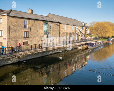 The Babylon Gallery and old buidlings on the riverside on the River Great Ouse, Ely Cambridgeshire UK - Stock Photo
