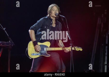London, UK. 8th March 2018.  Keith Urban  Headlining day 1 of C2C: Country to Country at the O2 Arena, Uk, Credit: Jason Richardson/Alamy Live News - Stock Photo