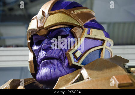 Milan, Italy. 8th Mar 2019. A Cosplayer during Cartoomics in Milano. March 8th, 2018 Credit: Pandarius/Alamy Live News - Stock Photo