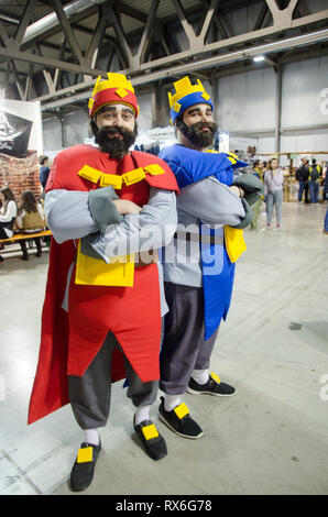 Milan, Italy. 8th Mar 2019. Cosplayers during Cartoomics in Milano. March 8th, 2018 Credit: Pandarius/Alamy Live News - Stock Photo