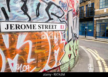 Jerome street E1 Spitalfields London - Stock Photo