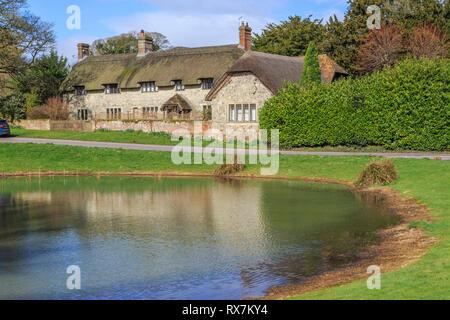 ashmore, village pond, picturesque village, dorset, england, uk