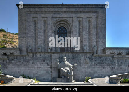 Matenadaran (the Mesrop Mashtots Institute of Ancient Manuscripts) is a repository of ancient manuscripts, research institute and museum in Yerevan, A - Stock Photo