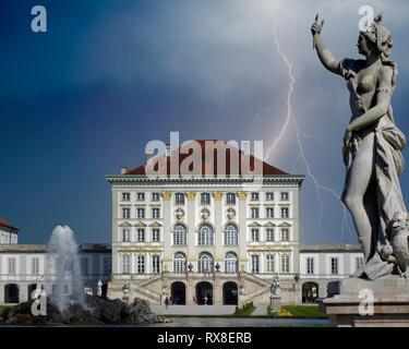 DE - BAVARIA: Nymphenburg Palace at Munich - Stock Photo
