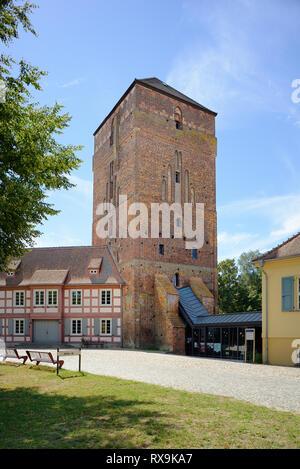 Amtsturm, Alte Bischofsburg, Museum of Thirty Years War, Dreißigjähriger Krieg, Ostprignitzmuseum, Wittstock an der Dosse, Brandenburg, Deutschland - Stock Photo