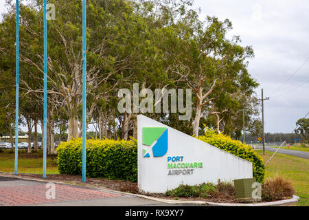 Port Macquarie airport on the mid north coast of New South Wales,Australia - Stock Photo