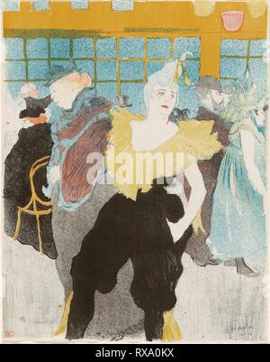 Elles: The Clownesse. Henri de Toulouse-Lautrec; French, 1864-1901. Date: 1897. Dimensions: 410 × 320 mm (image); 411 × 323 mm (sheet). Color lithograph on ivory wove paper. Origin: France. Museum: The Chicago Art Institute. - Stock Photo