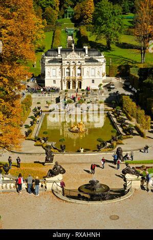 Linderhof Palace, Bavaria, Germany - Stock Photo