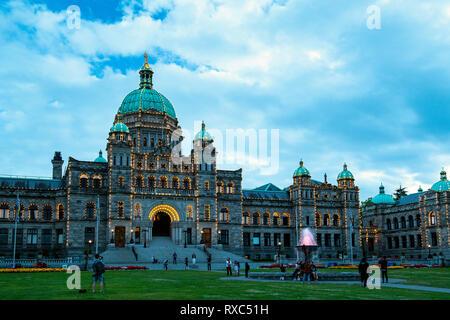 BC Parliament Buildings (Legislature), Victoria downtown, BC, Canada