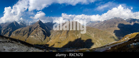 Rohtang Pass on a cloudy day. - Stock Photo