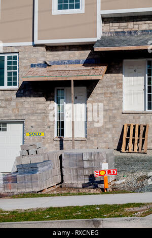New construction of a residential house. - Stock Photo