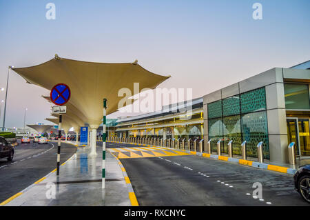 Abu Dhabi International airport in the capital of UAE , United Arab Eimrates - Stock Photo