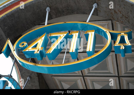 Neon sign with the inscription 4711 - Stock Photo