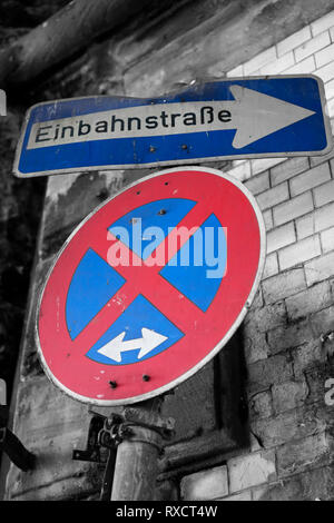 Road signs in Cologne - Stock Photo