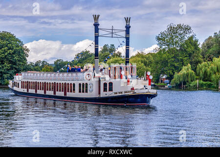 Paddle Steamer New Orleans Henley On Thames UK - Stock Photo