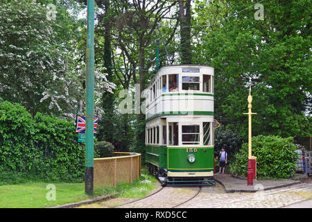Tram at East Anglia Transport Museum, Carlton Colville, Lowestoft, Suffolk, UK - Stock Photo