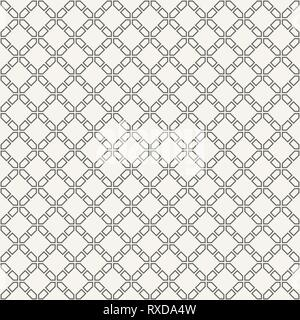 Abstract seamless pattern. Modern stylish texture. Regularly repeating rhombuses made of geometric shapes. Linear style. Vector background. - Stock Photo
