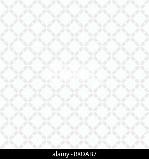Abstract seamless pattern. Modern stylish texture. White and gray geometric texture. Regularly repeating rhombuses made of geometric shapes. Vector. - Stock Photo