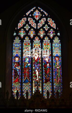 St Peter and St Paul's Church, Parish Church in Lavenham, Suffolk, UK. Sunny day. - Stock Photo