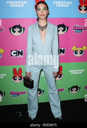 Los Angeles, United States. 08th Mar, 2019. LOS ANGELES, CA, USA - MARCH 08: Amanda Steele arrives at the Christian Cowan x The Powerpuff Girls Runway Show held at the City Market Social House on March 8, 2019 in Los Angeles, California, United States. (Photo by Xavier Collin/Image Press Agency) Credit: Image Press Agency/Alamy Live News - Stock Photo