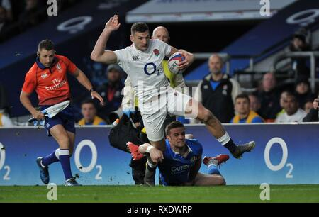 London, UK. 09th Mar, 2019. Jonny May (England). England V Italy. Guinness six nations rugby. Twickenham stadium. Credit: Sport In Pictures/Alamy Live News - Stock Photo