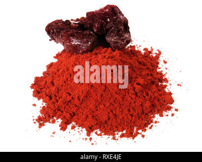 Red Dragon Resin Powder on white Background - Stock Photo
