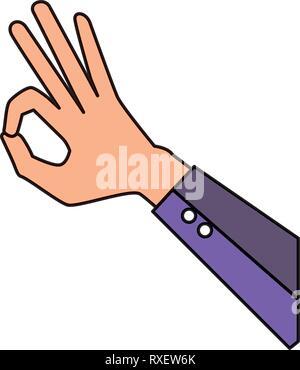 hand human ok symbol - Stock Photo