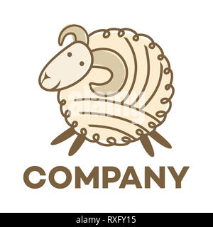 Sheep and wool logo - Stock Photo