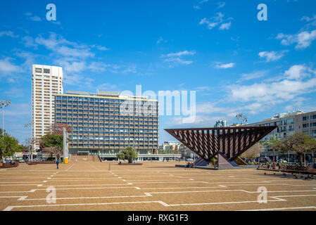 Rabin Square in tel aviv, israel - Stock Photo