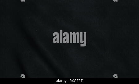 Seamless loop with highly detailed black fabric texture. Loop ready in 4K resolution - Stock Photo