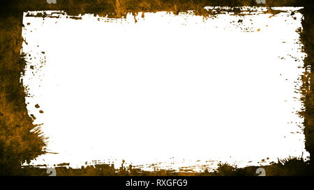 Grunge Textures And Frame.Orange frame with white background - Stock Photo