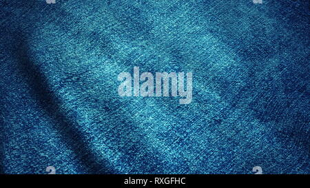 Realistic Ultra-HD jeans cloth waving in the wind. Seamless loop with highly detailed fabric texture. Loop ready in 4k resolution. - Stock Photo
