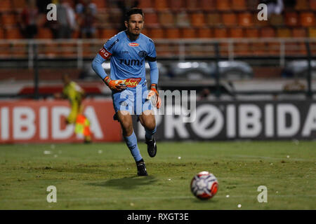 São Paulo, Brazil. 9th March 2019. - Tadeu during a match between São Paulo FC x Ferroviária, valid for the 10th round of the 2019 Paulista Championship and held at the Estádio do Pacaembu in São Paulo, SP. (Photo: Ricardo Moreira/Fotoarena) Credit: Foto Arena LTDA/Alamy Live News - Stock Photo