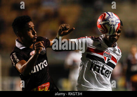São Paulo, Brazil. 9th March 2019. - Arboleda during match between São Paulo FC x Ferroviária, valid for the 10th round of the Paulista Championship 2019 and held at the Estádio do Pacaembu in São Paulo, SP. (Photo: Ricardo Moreira/Fotoarena) Credit: Foto Arena LTDA/Alamy Live News - Stock Photo