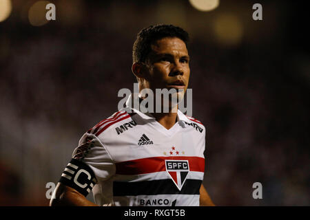 São Paulo, Brazil. 9th March 2019. - Hernanes during a match between São Paulo FC x Ferroviária, valid for the 10th round of the 2019 Paulista Championship and held at the Estádio do Pacaembu in São Paulo, SP. (Photo: Ricardo Moreira/Fotoarena) Credit: Foto Arena LTDA/Alamy Live News - Stock Photo