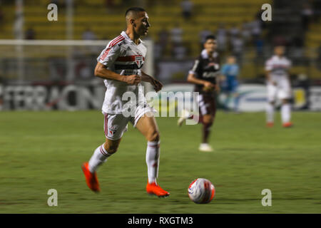 São Paulo, Brazil. 9th March 2019. - Antony during a match between São Paulo FC x Ferroviária, valid for the 10th round of the 2019 Paulista Championship and held at the Estádio do Pacaembu in São Paulo, SP. (Photo: Ricardo Moreira/Fotoarena) Credit: Foto Arena LTDA/Alamy Live News - Stock Photo