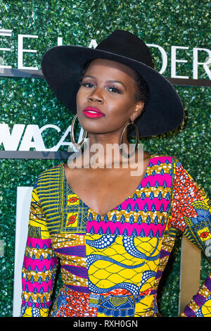 Los Angeles, USA. 09th March, 2019. V. Bozeman arrives at International Women Of Power Luncheon at the Marriott, Marina Del Ray, on March 09, 2019 in Los Angeles. Credit: Vladimir Yazev/Alamy Live News. - Stock Photo