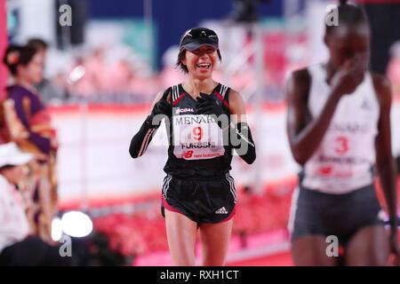 Nagoya, Aichi, Japan. 10th Mar, 2019. Kayoko Fukushi (JPN) Marathon : Nagoya Women's Marathon 2019 in Nagoya, Aichi, Japan . Credit: YUTAKA/AFLO SPORT/Alamy Live News - Stock Photo