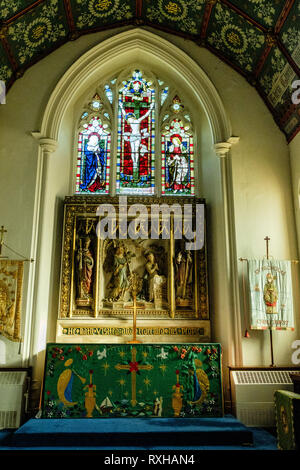 St Nicholas Church, Church Row, Chislehurst, Kent - Stock Photo