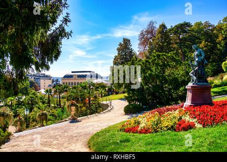 Spa garden in Baden near Vienna, Austria - Stock Photo