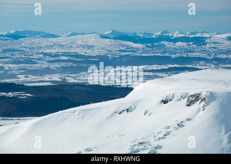 France, Puy de Dome (63), Besse-et-Saint-Anastaise, ski station of  Super Besse, Puy de Paillaret - Stock Photo
