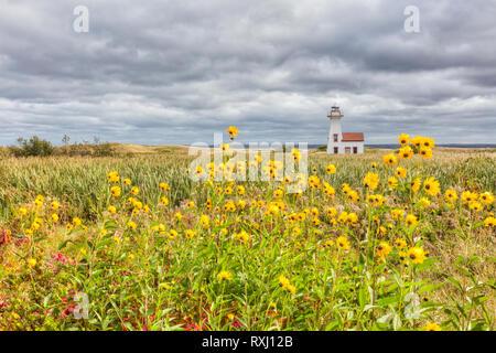 New London Lighthouse, Prince Edward Island, Canada - Stock Photo