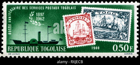 Postage stamp from Togo in the 65 years stamps from Togo (1962) series - Stock Photo