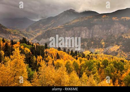 Leopard Creek Canyon in Fall, Colorado, USA - Stock Photo