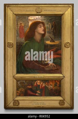 Beata Beatrix. Dante Gabriel Rossetti; English, 1828-1882. Date: 1871-1872. Dimensions: 34 7/16 × 27 1/4 in. (87.5 × 69.3 cm)  Predella: 26.5 × 69.2 cm. Oil on canvas. Origin: England. Museum: The Chicago Art Institute. - Stock Photo